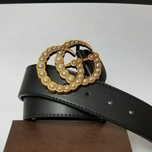 Gucci Pearl Belt (waist size 32 to 36)